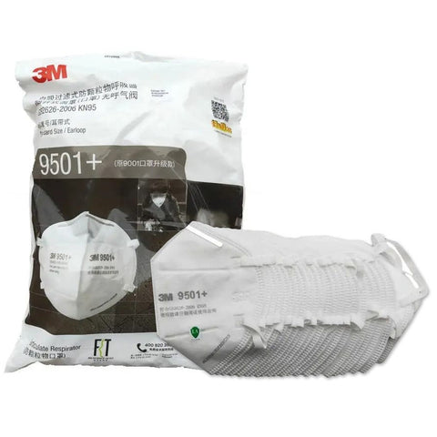 3M 9501+ KN95 Particulate Respirator Mask (50 Pieces)