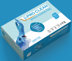 Pro Clean Nitrile Glove - Blue - 1000 Gloves Per Carton (10 Boxes)