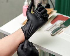 BOO GLOVES - Nitrile Powder Free Glove - Black - 1000 Gloves Per Carton (10 Boxes)