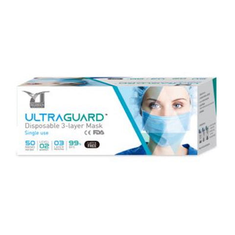 Surgical Face Mask 3-Ply BFE 99% (50 pieces)