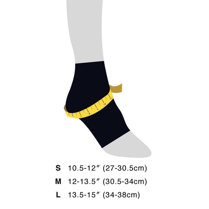 FE91 Ankle Sleeve size guide