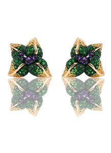 Iconic Emilia Earrings Amethyst Long