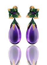 Load image into Gallery viewer, Iconic Emilia Earrings Amethyst Medium