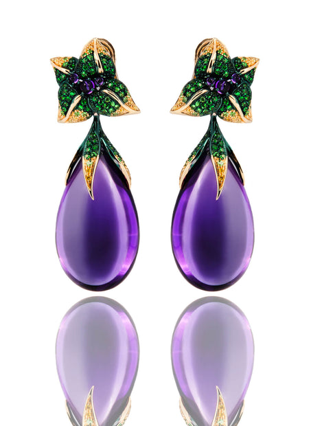 Iconic Emilia Earrings Amethyst Medium
