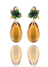 Load image into Gallery viewer, Iconic Emilia Earrings Honey Quartz Medium