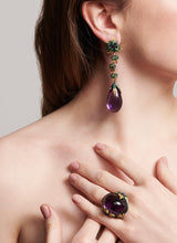 Load image into Gallery viewer, Iconic Emilia Earrings Amethyst Long