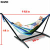 Hammock Chair Steel Stand Portable Double Swing Bed with Carry Case for Outdoor
