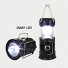 2 Way Rechargeable Camping Lantern 5LED+1W 110W & Solar panel