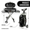 Portable Mini Black BBQ Grill Propane Foldable Cart, Camping Outdoor Party