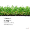 TURF STYLE1-35 $1.34/sqft (13ft. Wide X 41ft OR 82ft )