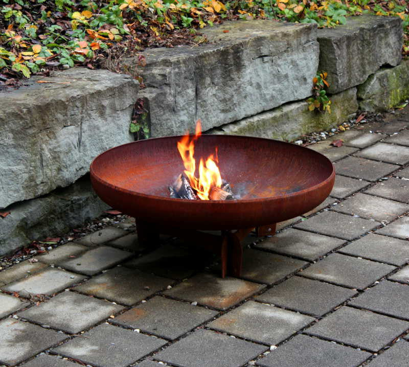 Yabbi Outdoor Fire Pit 80cm - Yagoona Design Australia