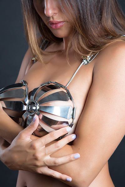 Fancy Steel Chastity Bra