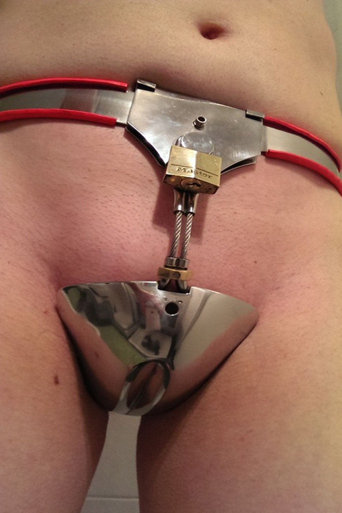 Sissy Chastity Belt  Fancy Steel-4273