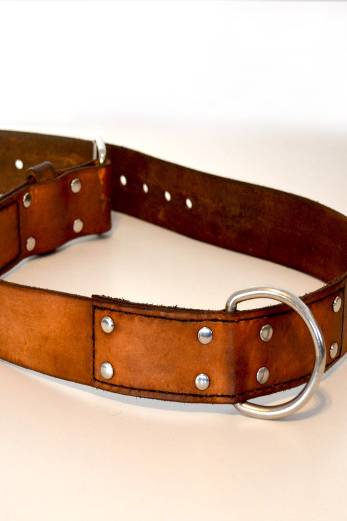 Leather hand cuff belt