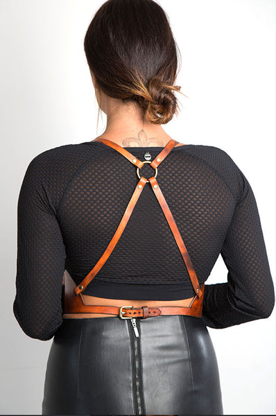 Rustic Steel And Leather Female Fancy Leather Submissive