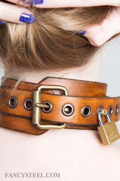 Fancy Leather submissive collar