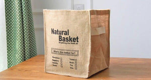 Panier jute natural basket