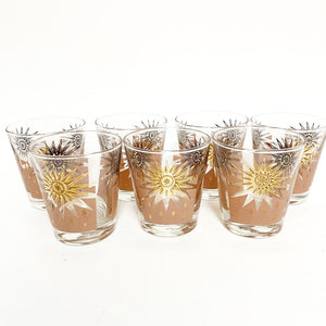Set of 7 Dominion glass old fashioned glasses - Where On Earth Antiques and Vintage