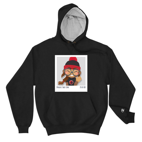 Patch's First Day Premium Champion Hoodie