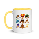 Hero Heads Mug with Color Inside