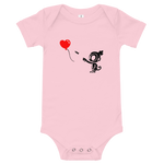 Monkey With Bloon Baby Bodysuit