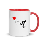 Monkey With Bloon - Mug with Color Inside