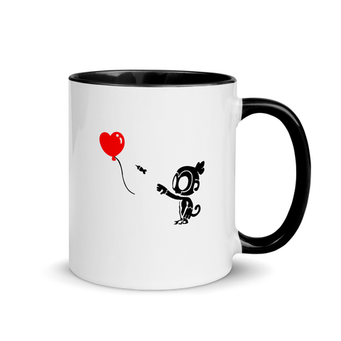 Monkey With Bloon Mug