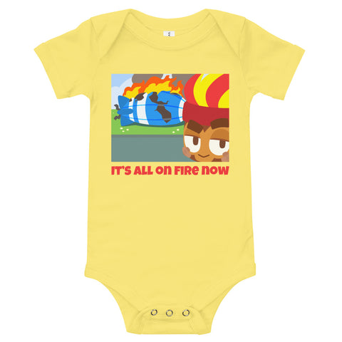 It's All On Fire Now Baby Bodysuit