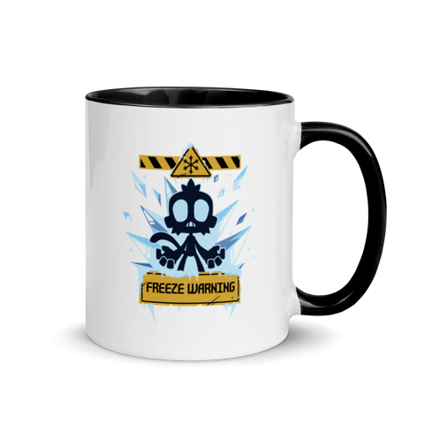 Freeze Warning Mug with Color Inside