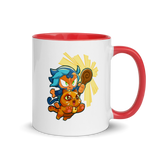 Ezili Smudge Cat Mug with Color Inside