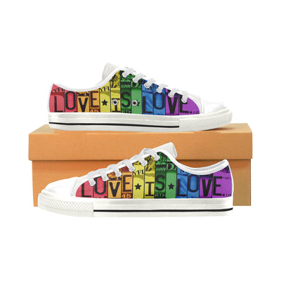 Love Is Love Low Top Shoes for Men and Women - Pandzee