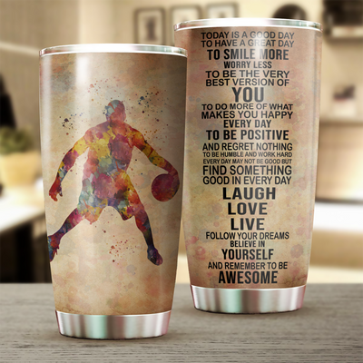 Basketball Today Is A Good Day Tumbler Cup - Pandzee