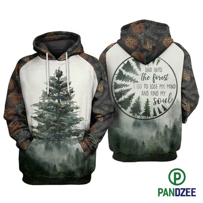 Tree Into The Forest Sublimation Shirt for Men and Women - Pandzee