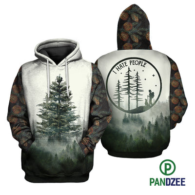 Tree Hate People Sublimation Shirt for Men and Women - Pandzee