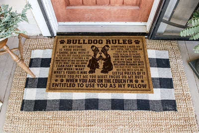 Dog Rules Coir Pattern All Over Printing Doormat - Pandzee