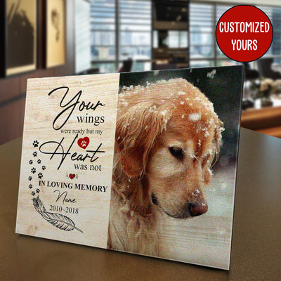 Your Wings Dog Custom Photo Panel for Tabletop Display - Pandzee