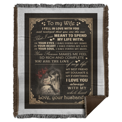 To My Wife I Feel In Love With You Woven Blanket - Pandzee