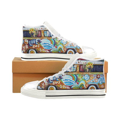 Love Bus Soul High Top Shoes For Men And Women - Pandzee