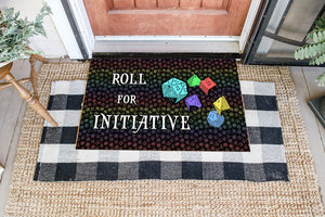 Game DnD Initiative Coir Pattern All Over Printing Doormat