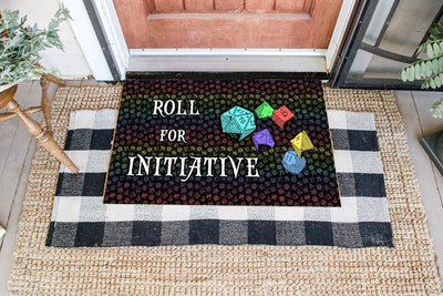 Game DnD Initiative Coir Pattern All Over Printing Doormat - Pandzee