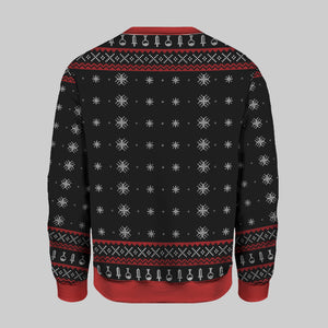 Game Merry Little Crit-Mas Knitting Pattern 3D Print Ugly Christmas Sweatshirt
