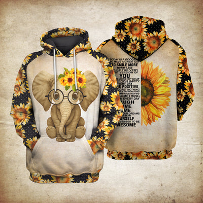 Hippie Elephant Today Sublimation Shirt for Men and Women - Pandzee