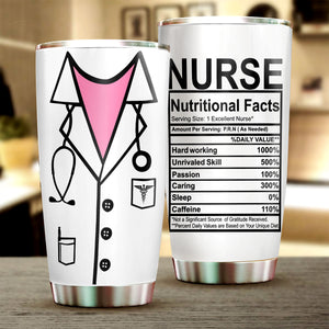 Nurse Nutritional Facts Tumbler Cup
