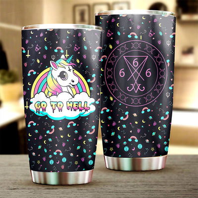 Unicorn Go To Hell Tumbler Cup - Pandzee