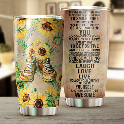 Running Shoes Today Is A Good Day Tumbler Cup - Pandzee
