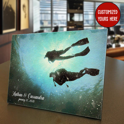Scuba Diving Custom Photo Panel for Tabletop Display - Pandzee