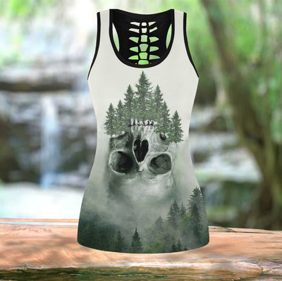 Skull Forest  Leggings And Tank Top - Pandzee