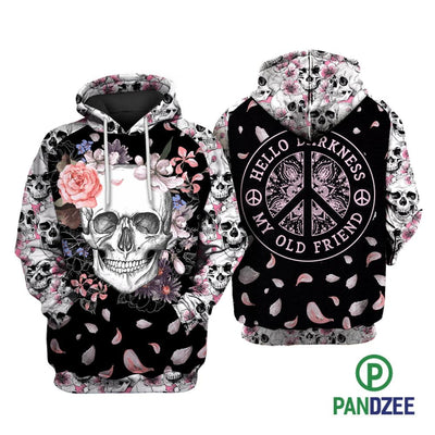 Skull Hello Darkness Sublimation Shirt for Men and Women - Pandzee
