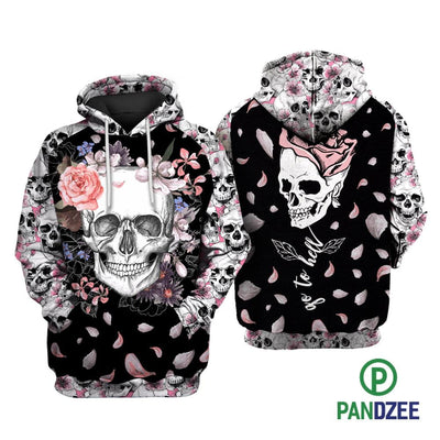 Skull Go To Hell Sublimation Shirt for Men and Women - Pandzee