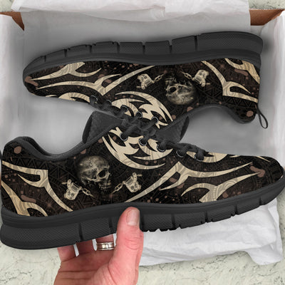 Skull Breathable Running Shoes - Pandzee